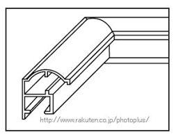 20%OFFフォトフレームA13サイズキャビネ(2L)無反射ガラス写真額縁シルバー127×178アルミフジカラーFUJICOLOR