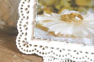 ウェディングフォトフレーム2LサイズKP-31246キシマ純白レースキャビネサイズブライダルお祝い写真立て誕生日TULLE(チュール)