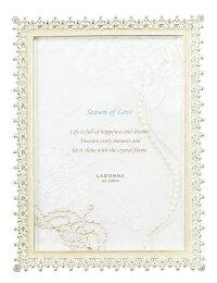 20%OFFフォトフレーム2Lサイズ(L判×2)MJ83-2L-WHラドンナ写真立ておしゃれ上品ブライダル記念写真結婚祝いLADONNA