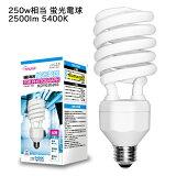 109■撮影照明スパイラル型蛍光球50W/250W相当■白E26型