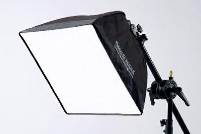 簡単設置の蛍光灯用ライトバンク!小物やアクセサリーなどの商品撮影に!40cm×40cm ソフトライ...
