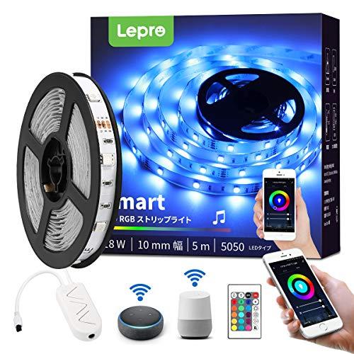 花・ガーデン・DIY, その他 Lepro LED RGB Alexa EchoGoogle Home 5m WIFI LED DIY