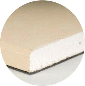 石膏ボードと遮音シートの貼り合わせ商品壁・天井に施工しやすいタイプです遮音シート付き石膏...