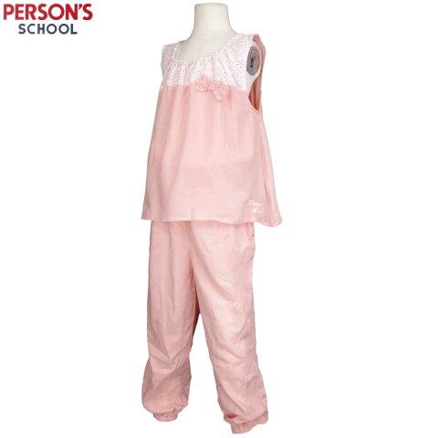 女の子 ジュニア PERSON'S(パーソンズ)重ね着風ノースリーブオールインワン ロングパンツ 女児 子供用 (ピンク 140cm 150cm 160cm) ガールズ ジュニア トップス半袖 全2色