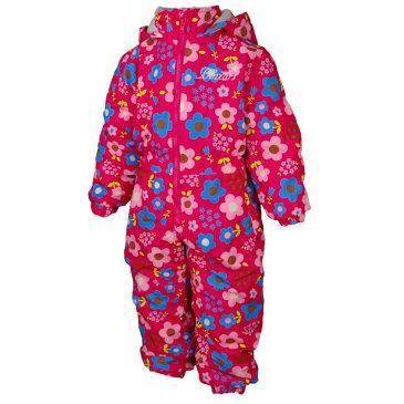 女の子 キッズ 花柄 中綿入りジャンプスーツ 防寒 つなぎ スノーコンビ 雪遊び 子供用 (ピンク 130cm 100cm 110cm 120cm) ガールズ キッズ スキーウェア 全4色