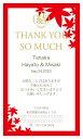 サンクスカード EF5-M5M(プチギフト 引き菓子 購入特典 結婚式 ウェディング ウエディング 名入れ お礼 オリジナル 二次会 パーティー 粗品)