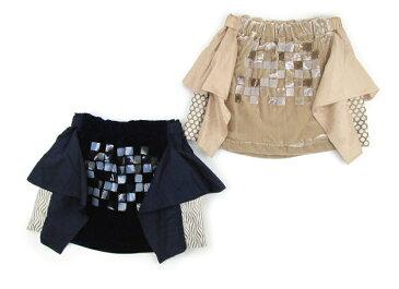 【あちゃちゅむ ムチャチャ ahcahcum セール】ベロア&シャンタンモチーフ付スカート(おとな)