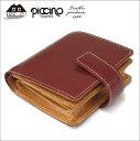 財布 札入れ 日本製 ボックス小銭入れ付き 革 イタリアンショルダーレザー 日本製 piccinoピッチーノP133NL
