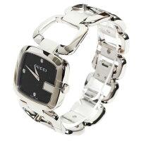 GUCCIグッチレディース腕時計G-グッチミディアムウォッチブレスウォッチYA125406シルバーブラック文字盤