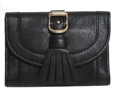 SEE BY CHLOE シーバイクロエ ミニ財布 カードケース ロゴ TWIN TASSELS タッセル 9P7240 P03 001 BLACK ブラック