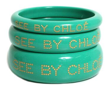 SEE BY CHLOE シーバイクロエ バングル アクセサリー ブレスレット 9K7079 N21 661 MINT ミントグリーン レディース レディース