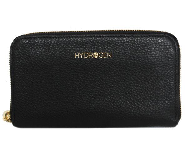 【新品】HYDROGEN ハイドロゲンWALLET ラウンドファスナー長財布 スカル 173912 914 BLACK ブラック レディース/メンズ/ユニセックス:PICCOLOピッコロ