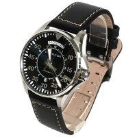 HAMILTONハミルトン腕時計メンズカーキパイロットオートマチックレザーダークブラウン/ブラックH64715535