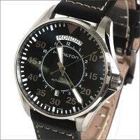 【送料無料】HAMILTONハミルトン腕時計メンズカーキパイロットオートマチックレザーダークブラウン/ブラックH64615735【_包装】