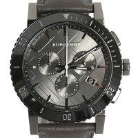 BURBERRYバーバリーメンズウォッチクロノグラフ腕時計BU1385HERITAGECHRONOヘリテージラウンドクロノグラフブラック文字盤