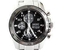 SEIKOセイコーメンズ腕時計SporturaスポーチュラクロノグラフSNAE61P1ブラック文字盤メンズ時計
