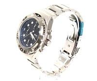 SEIKOセイコー腕時計ダイバーウォチクロノグラフマットシルバー/ネイビー