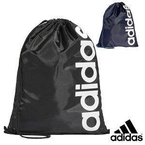 【メール便送料無料】アディダス adidas ナップサック ジムバッグ 遠足 塾 リニアロゴ シンプルスタイル ブラック ネイビー