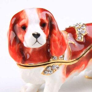 NEW!犬のインテリア小物入れ☆柔らかい毛並みがうまく表現できてキャバリア好きにはたまらない...