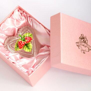 <プチベリー ジュエリーボックス>いちご ベリー  ガラス小物入れ ギフト 卒業 入学 可愛い 誕生日プレゼント 女性 クリスマス 新生活 母の日