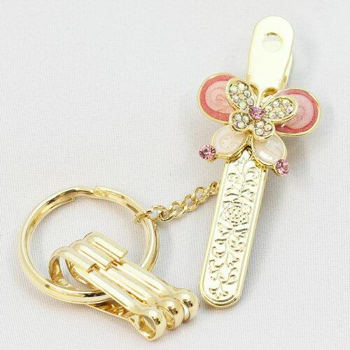 【楽天市場】<バッグキークリップ 蝶>バッグの中で大切な鍵 ...