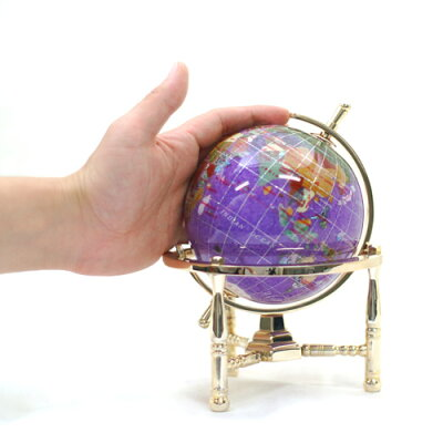 11cm紫水晶天然石地球儀宝石地球儀パワーストーン【smtb-s】【_包装】【_のし】