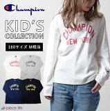 Champion チャンピオン キッズ New York TEE(CX7131) 長袖 Tシャツ プリント 黒 グレー 白 紺 ビックロゴ メンズ レディース 対応 ユニセックス ファッション kids アメカジ 定番 小さいサイズ