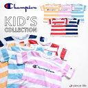 17%OFFチャンピオン tシャツ Champion kids キッズ ボーダー ロゴ Tシャツ CS4964 Tシャツ tシャツ メンズ レディース ユニセックストップス 半袖Tシャツ チャンピオン 半袖 シャツ ブランド キッズ M 100 110 120 130 140