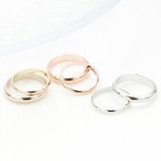 ファランジリングピンキーリングコンビリング2本セット小指指輪