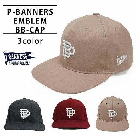 帽子 キャップ メンズ レディース ベースボールキャップ 刺繍 秋 冬 春 ウール PENNANTBANNERS