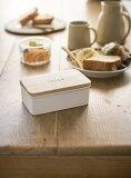 バターケース ホワイト 470ml トスカ バター入れ バター保存容器 白 天然木 おしゃれ スタイリッシュ ナチュラル 人気 キッチングッズ ギフト プレゼント