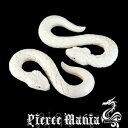 6g 妖艶なホワイトスネーク!白蛇 フックピアス ヘビ★ボディピアス ホワイトボーン 骨 天然素材 イヤーロブ タロン