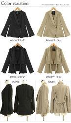 2タイプデザインから選べる柔からピーチ素材ジャケット☆長袖ピーチスキントッパーテーラ−ドJK【返品不可】
