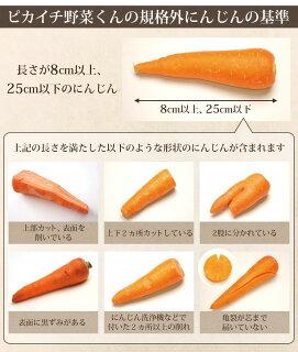 ピカイチ野菜くんの規格外にんじんの基準