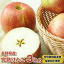 りんご部門ランキング1位獲得 国産 りんご 樹上完熟なので甘みが違う!「長野県産」りんご3kg B品 特別栽培農産物 りんご 訳あり ジュース用 林檎の商品画像