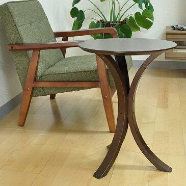 サイドテーブル 4色 テーブル コーヒーテーブル 木製 丸型 ラウンドテーブル いるモノだけ載せる。ソファ横の省スペースを最大に活用!