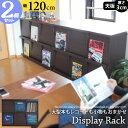レコードラック LP収納 6マス 2個セット ディスプレイラック 幅120cm2段3列 木製ディスプレイラック レコード収納 収納ラック