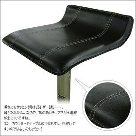 美しいクロム仕上げのカウンターチェア。脚乗せも付いて座りやすくなりました!座面は360度回転式ですよ!座面は、お手入れ簡単な合皮素材!カフェ風インテリアやカフェスタイルに!