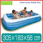プール INTEX ファミリープール ビニールプール プール 家庭用プール 長方形 大型 3M