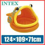 プールINTEX(インテックス)レイジーフィッシュシェードベビープールビニールプール子供用プールベランダ家庭用プール長方形底に空気