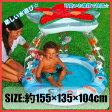 プール INTEX(インテックス) スター ベビープール ビニールプール 子供用 プール ベランダ 家庭用プール 長方形 屋根付き ベビープール 日よけ サンシェード