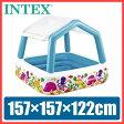 プール INTEX(インテックス) サンシェードプール ビニールプール 子供用 プール ベランダ 家庭用プール 長方形 屋根付き ベビープール 日よけ