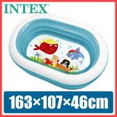 プール INTEX(インテックス) オーバルプール 163×107×46cm ビニールプール 子供用 プール ベランダ 家庭用プール 長方形