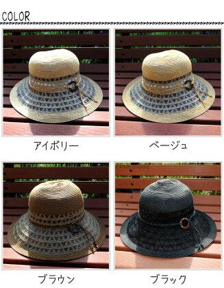 ウッドリングUVメッシュハット【\10,500以上で送料無料】ハット帽子UVカット帽子ペーパーハット麦わら帽子夏帽子春帽子ナチュラル帽子携帯帽子レディースつば広夏リボン日よけUV帽子capサンバイザー