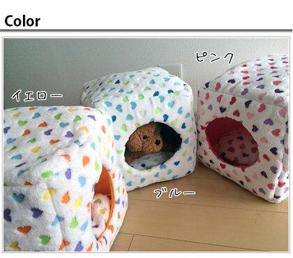 キュート柄ペットWハウス冬【ハウスドーム犬ベッド犬小屋室内小型犬猫ベッド】