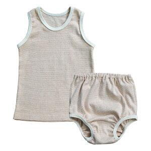 76366200793123 オーガニックコットン ベビータンクトップセット 80/90【ORGANIC GARDEN】  ☆こちらの商品はネコポス発送可能です。動き回りだす赤ちゃんたちに。
