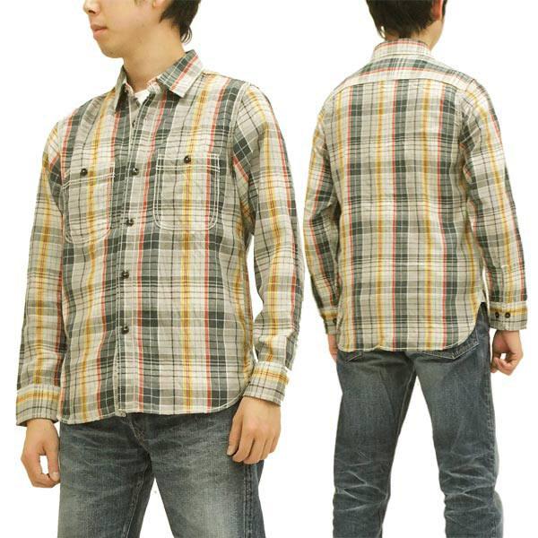 マークストア チェック ワークシャツ MARK STORE メンズ 長袖シャツ 8001-25006 グレー 新品