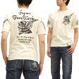 爆裂爛漫娘 Tシャツ 鎧甲ドクロ 爆烈 エフ商会 和柄 メンズ 半袖tee rmt-227 オフ白 新品