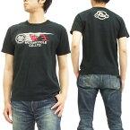 陸王 Tシャツ 和製ハーレーダビッドソン バイク メンズ 半袖tee 44RG002 黒 新品
