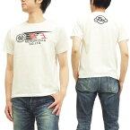陸王 Tシャツ 和製ハーレーダビッドソン バイク メンズ 半袖tee 44RG002 オフ白 新品